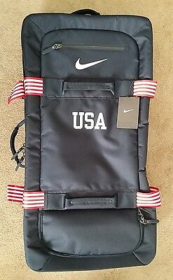 """New 2016 Nike Team Usa Rio Olympic 30"""" Large Duffle Travel Luggage Roller Bag"""