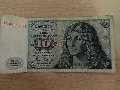 1 Billet de 10 ZEHN Deutsche Mark 1980 ALLEMAGNE