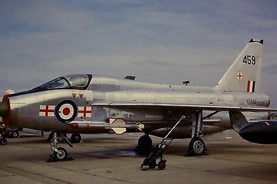 Original 35mm Colour Slide of Royal Air Force Lightning T.5 XS459 in 1966