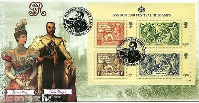 2010 Stamp Festival M/sheet Great Britain Bradbury Of Leicester Fdc 95/125 Vgc