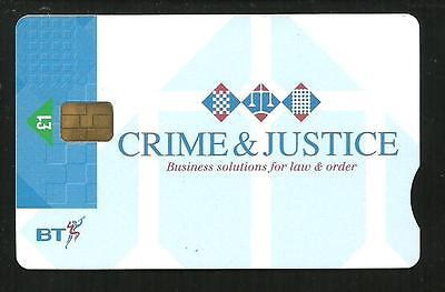 Pro413 Crime & Justice  Mint Bt Phonecard