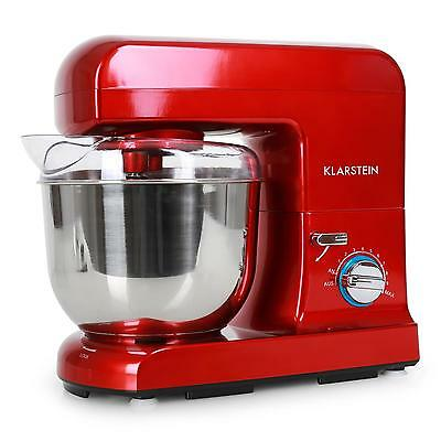 Kitchen Electric Food Stand Mixer Table Top Guard 5 L Bowl 1000W Red 4 Attac.