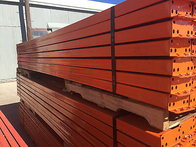 Used Teardrop Pallet Rack Shelving Racking Sections scaffolding one beam 150""