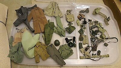 Hot Toys Sideshow DID Dragon 1/6 scale 12 inch MILITARY ARMY SOLIDER parts LOT