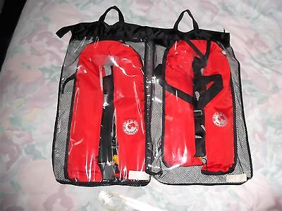 Marinepool Adult Automatic Life Jacket ISO 150N with Harness/Crutch Strap X 2