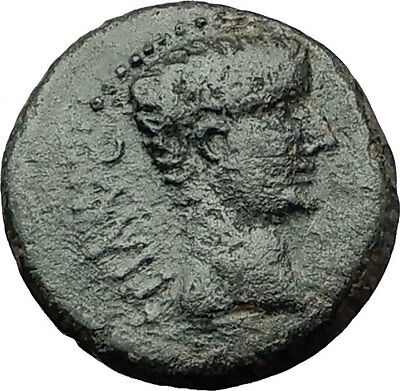 TIBERIUS 14AD Colonists Founding PARIUM with OXEN Ancient Roman Coin i59240