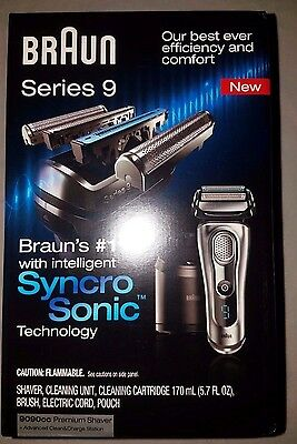 Braun Series 9 9090cc Cord/Cordless Rechargeable  Men's Electric Shaver NEW