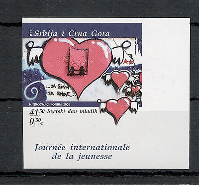 SERBIA & MONTENEGRO-PROOF-print on special chromaline paper-WORLD YOUTH DAY-2005