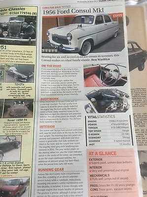 FORD CONSUL Mk.1  1956  USED CAR TEST ARTICLE  2013  ~ForCon01