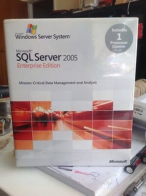 Microsoft SQL Server 2005 Enterprise Edition 1 Processor Full Retail Box