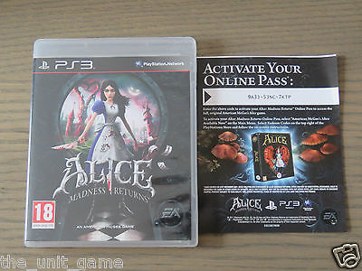 Playstation 3 Ps3   Alice Madness Returns  Complet En Francais
