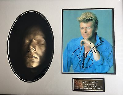 David Bowie Autographed Photo And Lifecast From 'the Man Who Fell To Earth'
