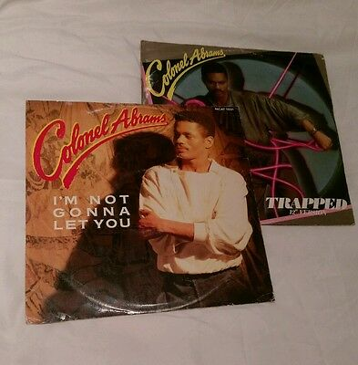 """Colonel Abrams x 2 . 12"""" Vinyl records - Trapped & Im not gonna let you."""