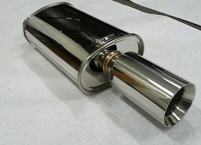 """OBX Universal Seam Type Muffler with 2.5"""" Inlet MV2013 (side-in center-out)"""