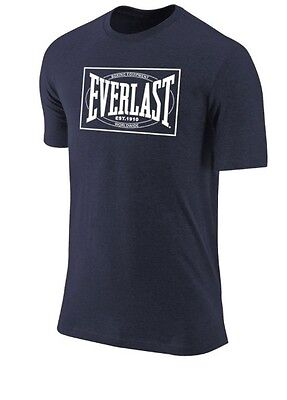 NEW Men's Everlast Boxing Vintage Logo T-Shirt Color: Navy Size: Small