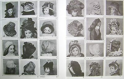 14) Mignonette  Doll Hat Patterns For Small Bisque,compo French,german Dolls