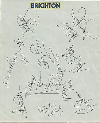 1983 BRIGHTON & HOVE ALBION signatures (14) on sheet, ideal for framing!