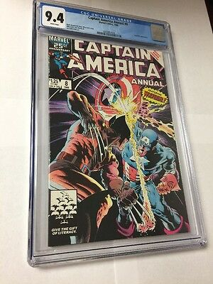 captain america annual 8 Cgc 9.4 White Pages