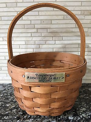 Longaberger 1991 Discovery Basket 1492-1992 - Displayed Only!
