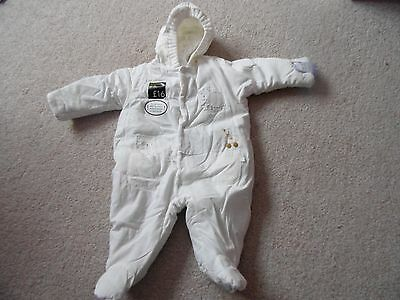 Brand NEW marks and spencer neutral coloured snowsuit age 0-3 months