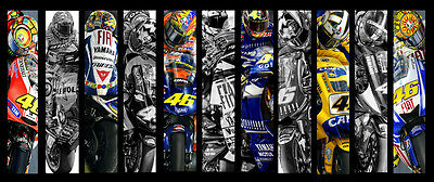 VALENTINO ROSSI 'SLIMPICS' LIMITED EDITION ARTWORK BY STEVE WHYMAN(Motor Sport)