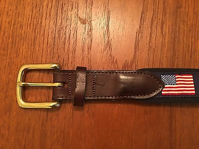 Vineyard Vines American flag belt size 36