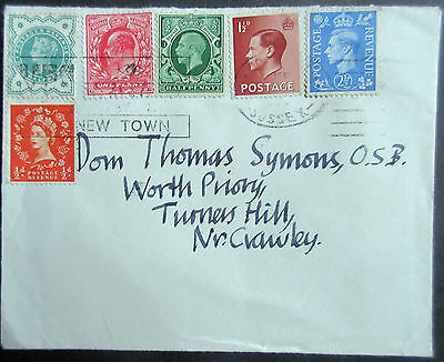 GB Cover With Stamps of 6 Reigns.