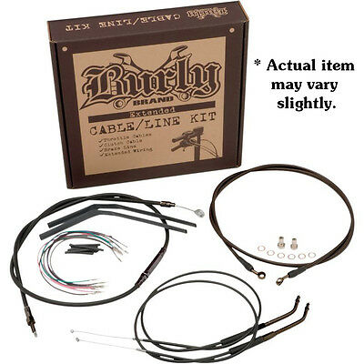 """Burly 16"""" Ape Hanger Handlebar Cable Wire Kit for 1998-2005 Harley Dyna FXD *"""