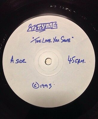 "INTYME - The Love You Save Vinyl 12"" UK 1993 Promo White Label"