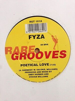 "FYZA - Poetical Love / Piano Vinyl 12"" UK Rare Grooves 1990 Funk Soul"