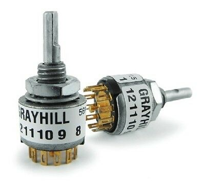 Grayhill 6 position 2 pole rotary switch 56SD30-01-2-AJN