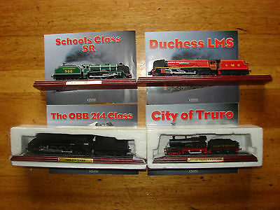 4 Atlas Edition Model Locomotives with Brochures 4