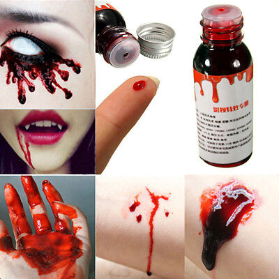 New Horror Clot Blood FX MakeUp Halloween Stage Fake Theatrical Vampire Tube