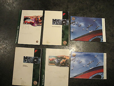 MGF Handbook Service Portfolio / Manual CD compact disc etc Books as Pictured