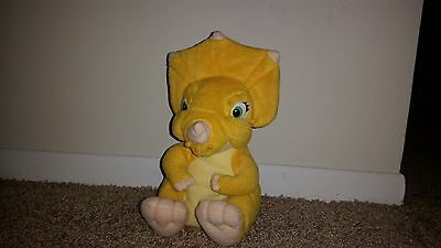 "1996 The Land Before Time 9"" Sara/Cera Triceratops Dinosaur Equity Plush RARE"