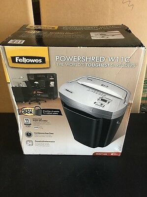 New Fellowes Powershred W11C, 11-Sheet Cross-cut Paper and Credit Card Shredder