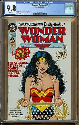 Wonder Woman #63 CGC 9.8 White Pages - 1992