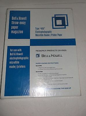 Type 400 Electrophotographic Microfilm Reader Printer Paper Magazine Bell Howell