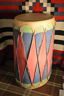 large painted wood hide pueblo indian native cochiti taos drum