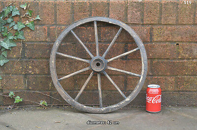 Vintage old wooden cart wagon wheel  / 42 cm FREE DELIVERY