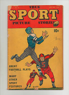 True Sport Picture Stories Vol 4 #10 - Great Football Cover - (Grade 2.5) 1948