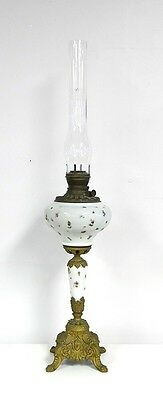 """VICTORIAN GLASS And BRASS TABLE OR PIANO LAMP...37 1/2""""..."""