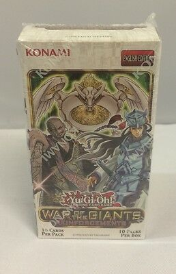 Yu-Gi-Oh! War of The Giants Reinforcements Booster Box Sealed (10 packs)