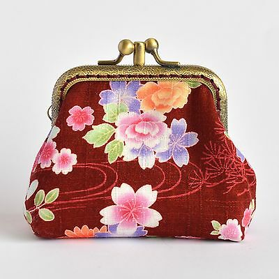 Hand crafted Japanese sakura coin purse collectable #0050