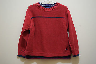 Tommy Hilfiger Sweater Boy Toddler 4 Red Long Sleeve 100% Cotton