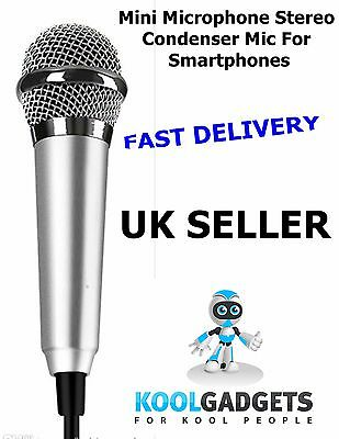 Portable Mini Microphone Stereo Condenser Mic For IPhone IOS Android Smartphone