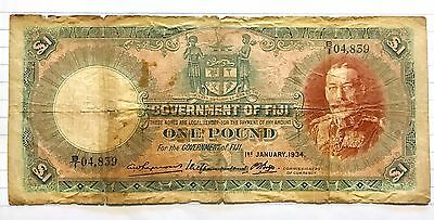 Fiji Pound Note 1934
