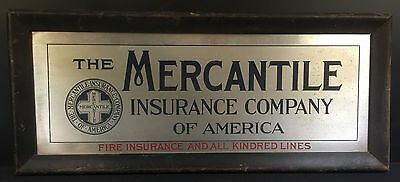 Advertising Sign-The Mercantile Insurance Company of North America--BUY IT NOW!~