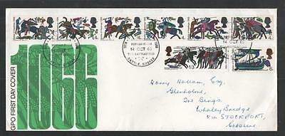 Gb 1966 Battle Of Hastings Fdc With Posted From Battlefield Cds Cancels