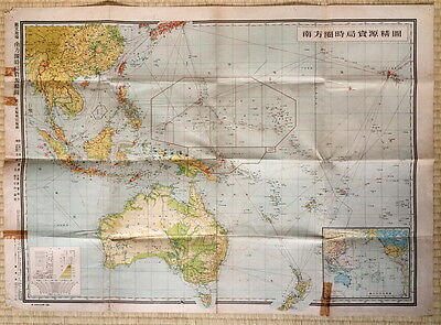 Wwii South Pacific Resource Map Southern Sphere Micronesia Sea Route
